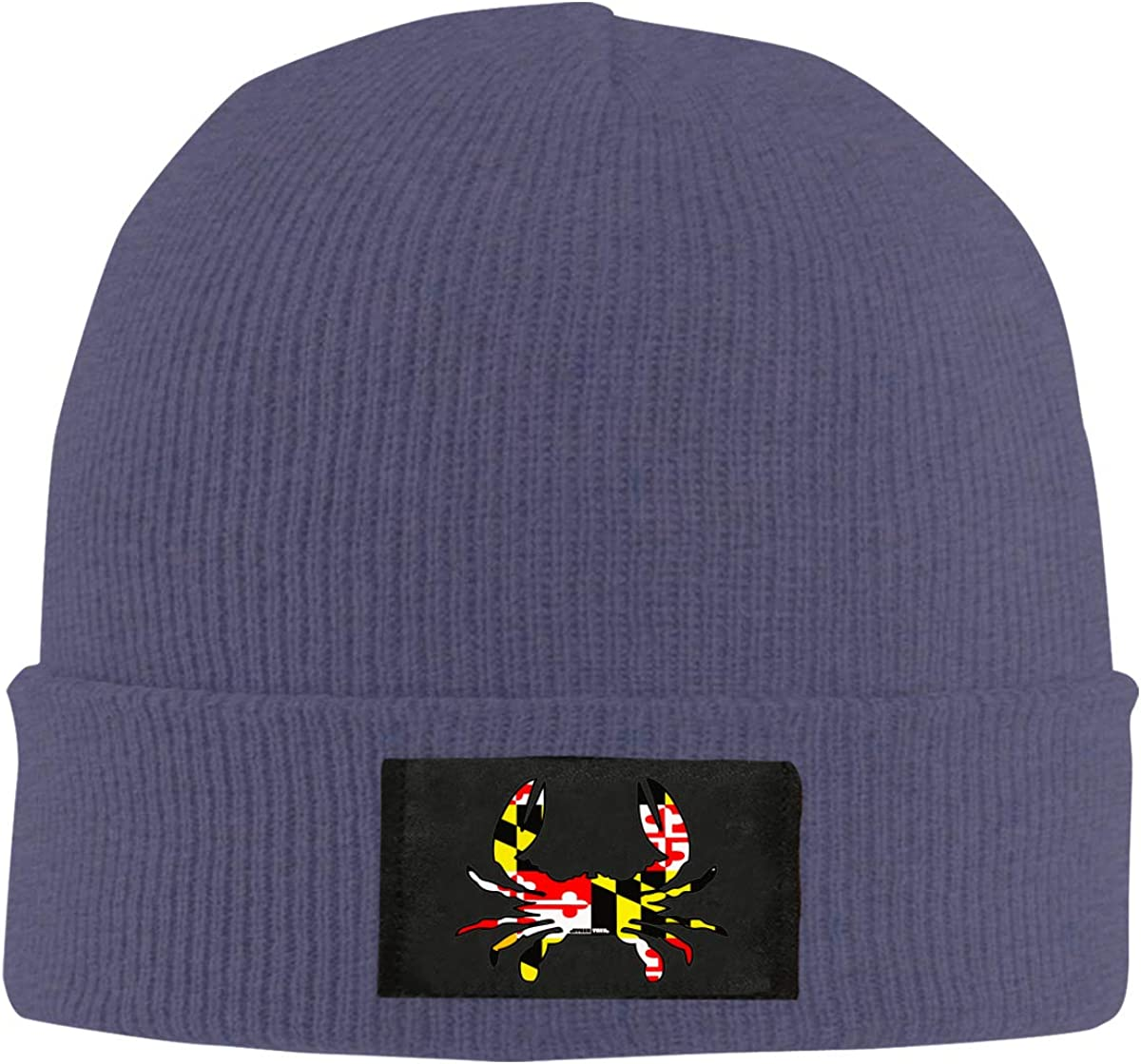 100/% Acrylic Winter Skiing Cap BF5Y6z/&MA Mens and Womens Maryland Flag Crab Knitted Cap