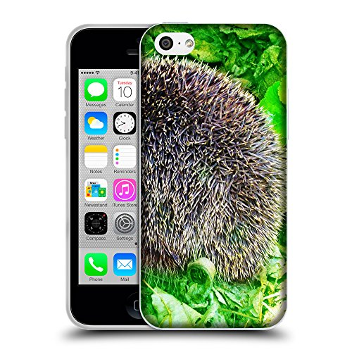 Just Phone Cases Coque de Protection TPU Silicone Case pour // V00004143 Les aiguilles de bêtes hérisson // Apple iPhone 5C