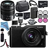 Panasonic Lumix DC-GX850 Micro Four Thirds Mirrorless Camera with 12-32mm Lens (Black) + Lumix G Vario 45-150mm lens + DMW-BLH7 Battery + Charger + Sony 128GB SDXC Card + Case + Tripod + Flash Bundle