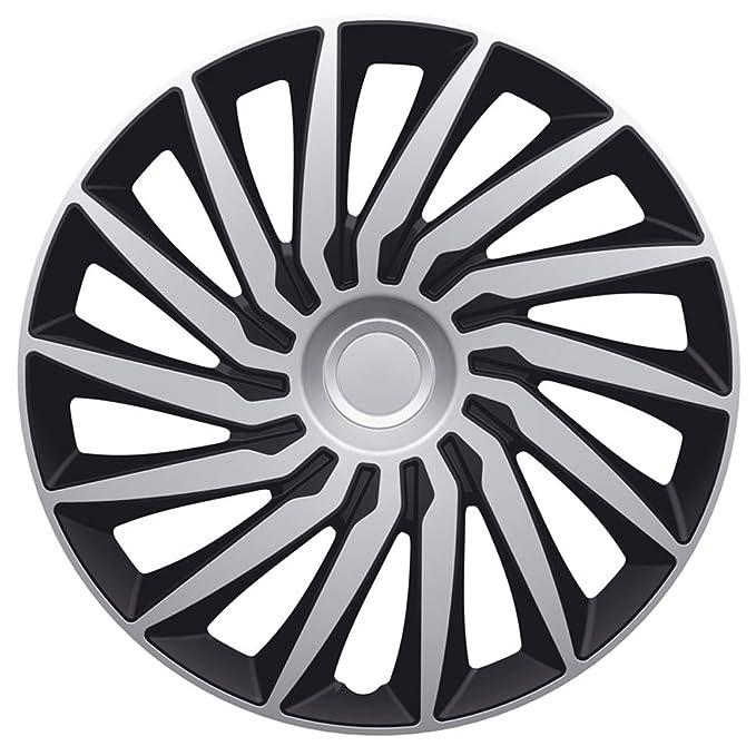 Autostyle Silver/Black Juego Tapacubos Kendo de 16 Pulgadas Plata/Negro: Amazon.es: Coche y moto
