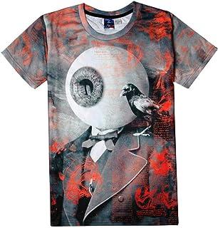 O&YQ T-Shirt Manica Corta da Uomo di Moda in Stile Europeo e Americano con Colletto Tondo Sottile da Uomo