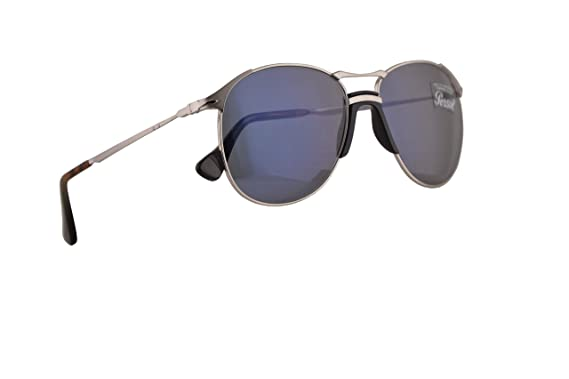 4b82f9da6e Image Unavailable. Image not available for. Color  Persol PO2649S Sunglasses  Silver w Light Blue Lens 55mm 51856 ...