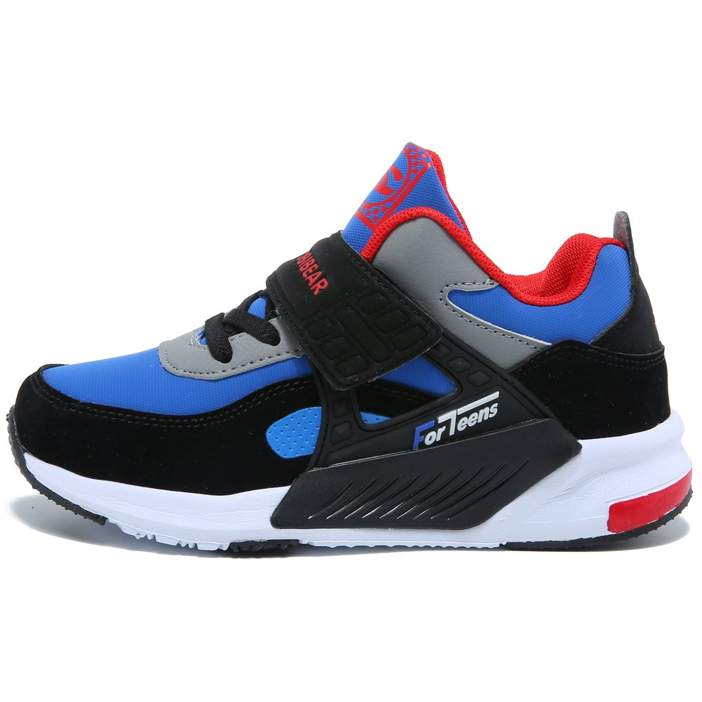 GUBARUN Running Shoes for Kids Outdoor Hiking Athletic Boys Sneakers-Blue/Black by GUBARUN (Image #4)