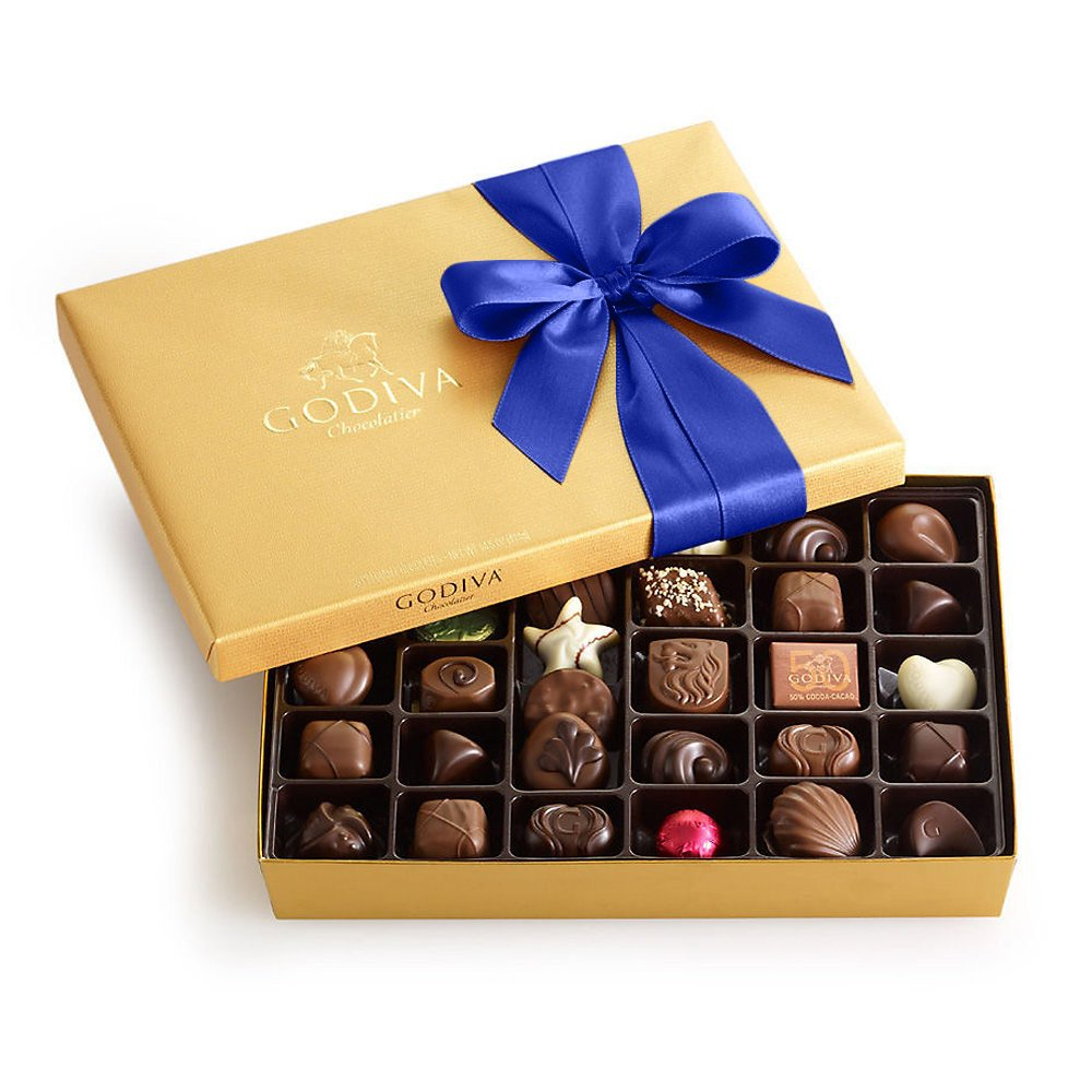 Image result for assorted chocolate gold gift box
