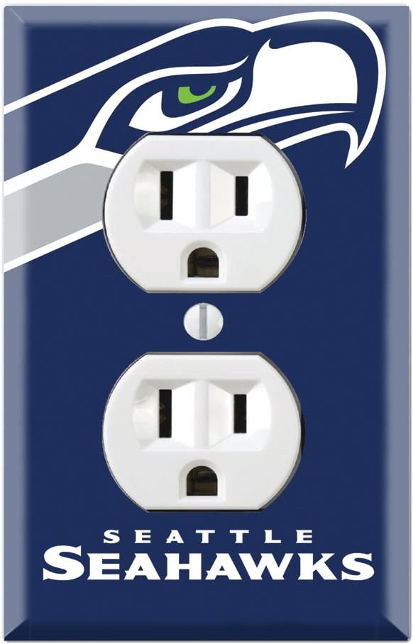 Duplex Wall Outlet Plate Decor Wallplate - Seahawks