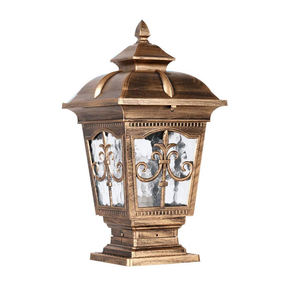 ヨーロッパ防水柱ライト、コラムヘッドライト/ドアコラムライト/屋外ウォールランプ、ヴィラウォールドアランプ、ガーデンランプ (色 : Bronze 1) B07JVDPL7B Bronze 1