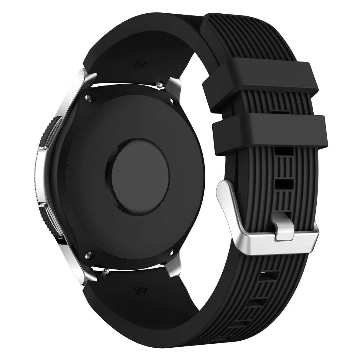 XIHAMA Correa Compatible con Samsung Galaxy Watch 46mm, Recambio de Silicona Bracelet Compatible con Smartwatch Samsung Galaxy Watch 46mm (46mm, ...