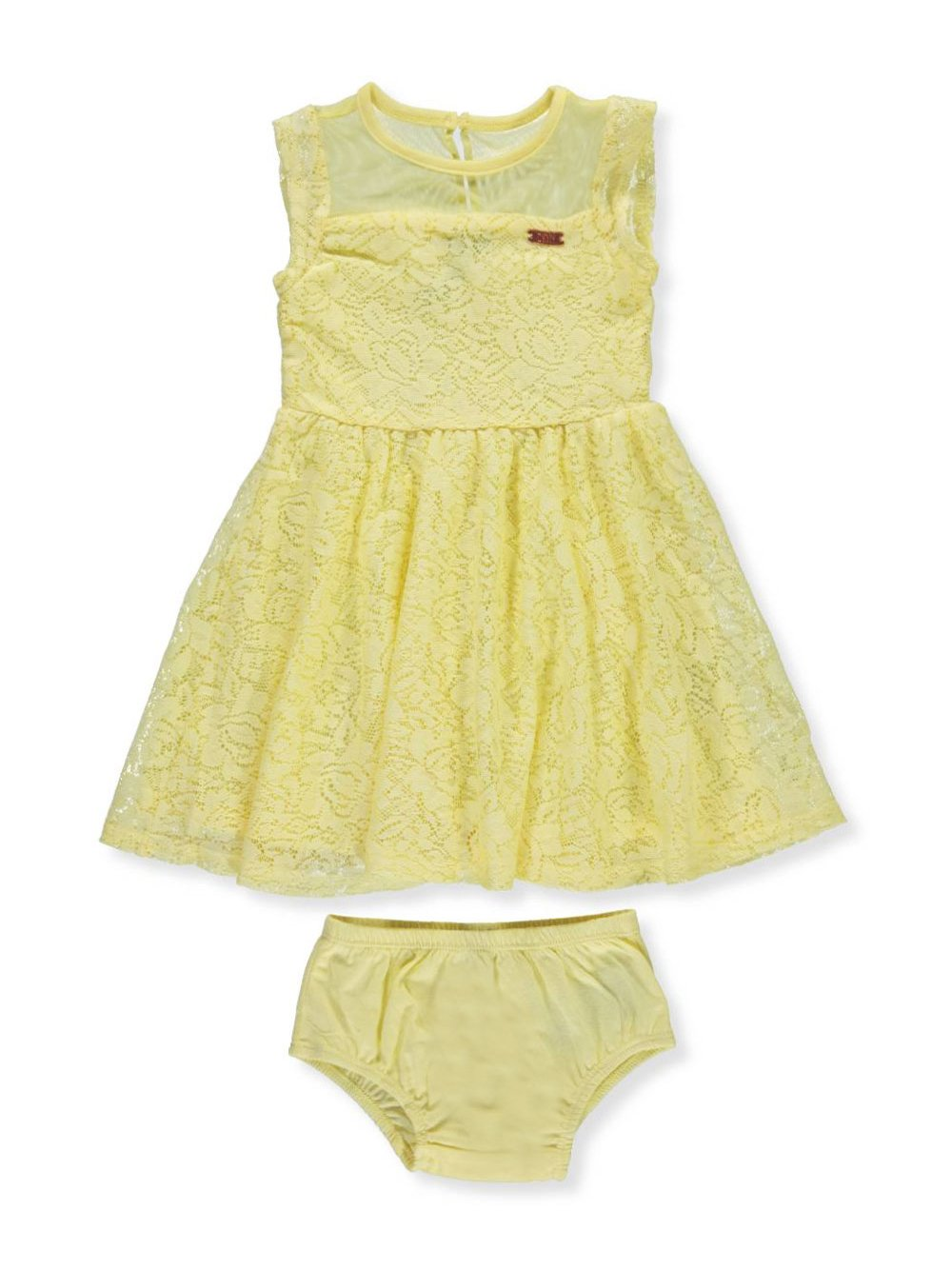 DKNY Baby Girls Casual Dress, Lemonade-XOBGB, 24M