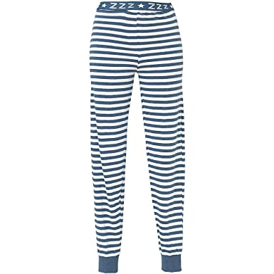 Love To Sleep Long Leg Striped Soft Jersey Women s Loungewear Pyjama Bottoms  - Navy Stripe - ccf33df45