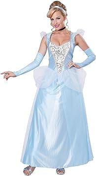 Classique Femme Costume Cendrillon Disney Princesse Conte De Fees Bleu Robe Adulte Fancy Dress Amazon Fr Jeux Et Jouets