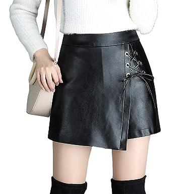 DISSA FS6889 - Falda de Piel sintética para Mujer (tamaño Grande ...