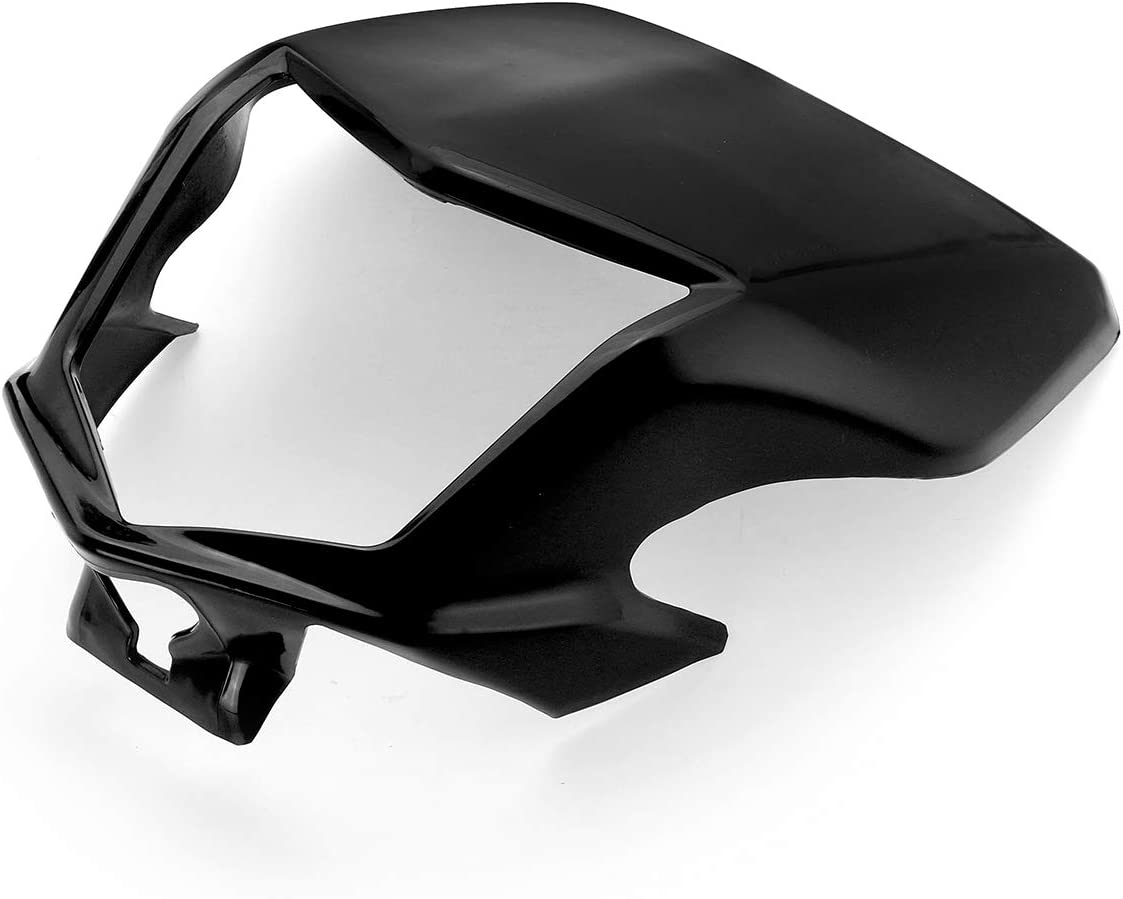 Forspero Motocicleta Frontal Faro Visera Carenado Negro para Honda Crf250L Crf250M 2012-2017