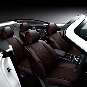 LUXURY BLACK FAUX LEATHER SEAT COVER SET for PEUGEOT 208 2012
