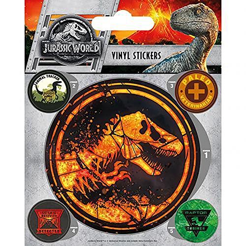 Con licencia oficial Jurassic World Fallen Kingdom–pegatinas de vinilo