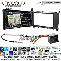 Volunteer Audio Kenwood DNX574S Double Din Radio Install Kit with GPS Navigation Apple CarPlay Android Auto Fits 2005-2007 Mercedes C Series