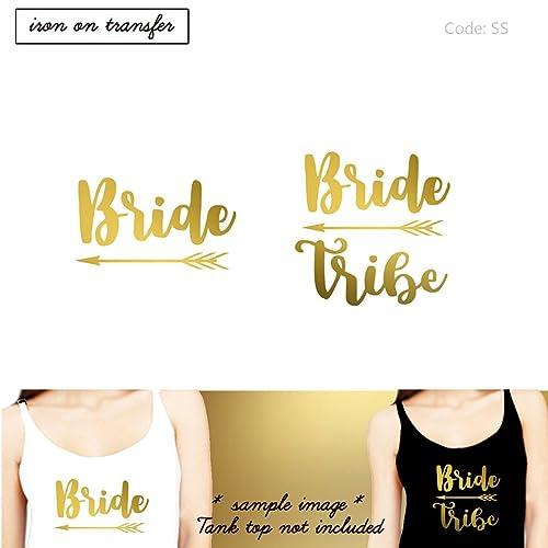 amazon com bride bride tribe arrow iron on diy bachelorette party