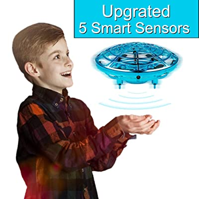 Innoo Tech Kids Drone Hands Operated UFO Drone for Kids or Adults Hands Free Mini Drone Helicopter Suspension Gesture Sensing Aircraft Indoor Flying Ball Drone Toys for Boys or Girls (Blue): Toys & Games