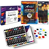 47 PCS Acrylic Paint Set with 12 PCS Paint