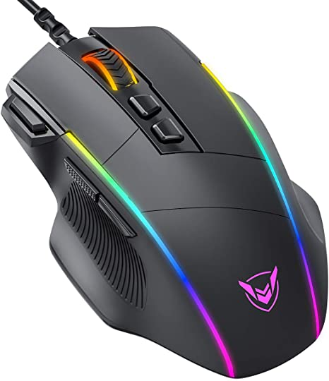 Computer Mouse Wired,RATEL Computer Mice Mode 6 Black