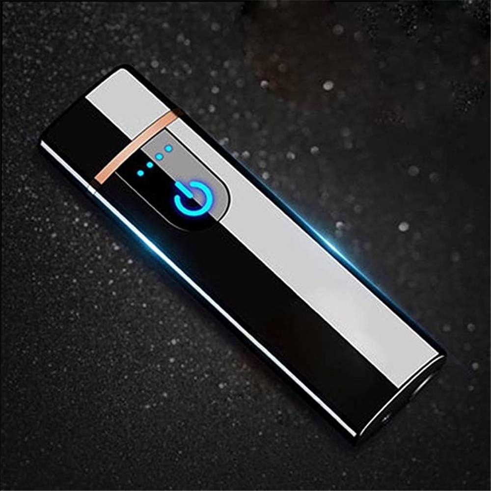 Steerfr Encendedor USB, Encendedor eléctrico, Plus Popular Encendedor Doble Arco eléctrico, USB Recargable Anti Viento Cortavientos para Vela, Barbacoa, Cocina de Gas, Elégant Regalo