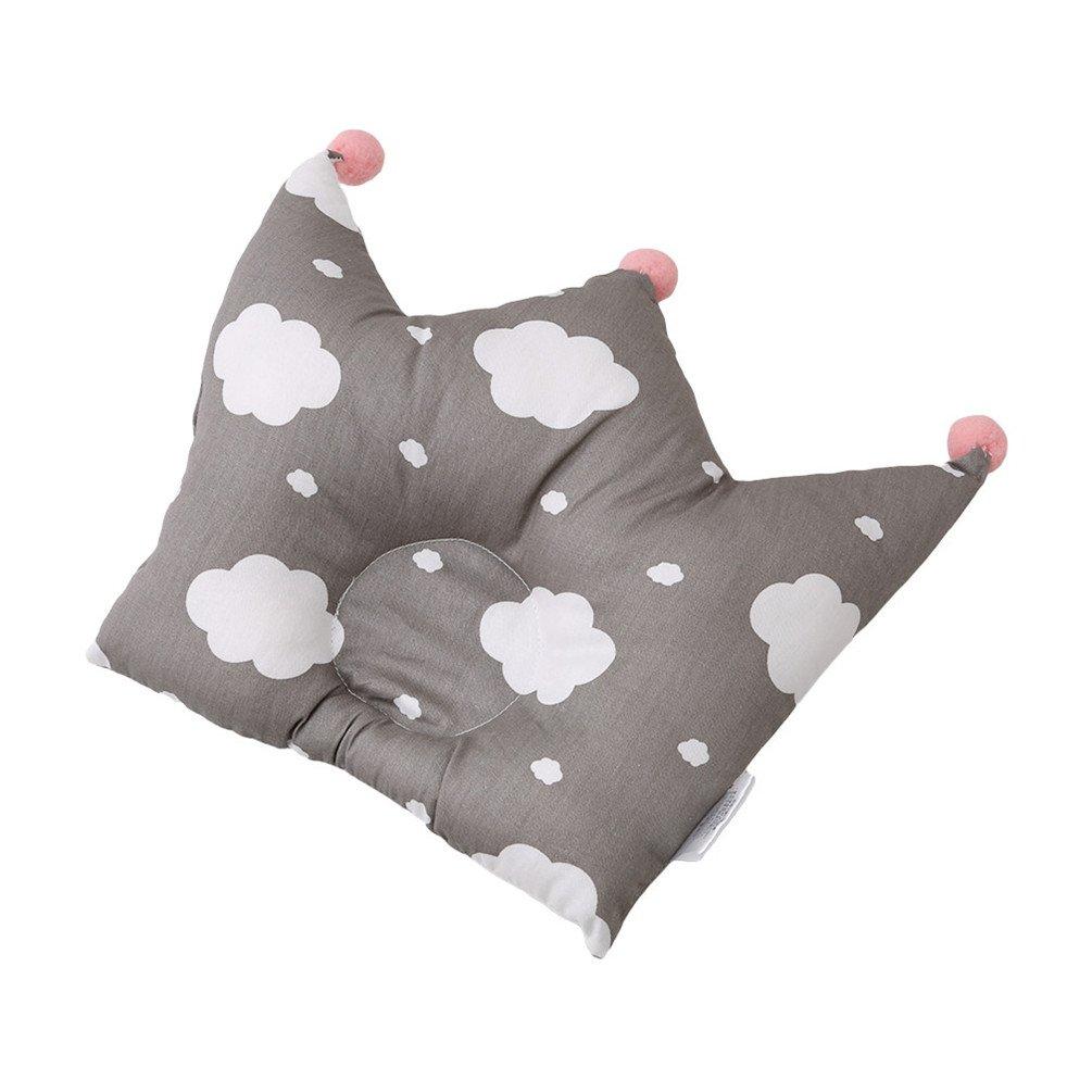 Albeey Babykissen Krone Form Weiche Baumwoll Neugeborenen Kopfkissen Wolke