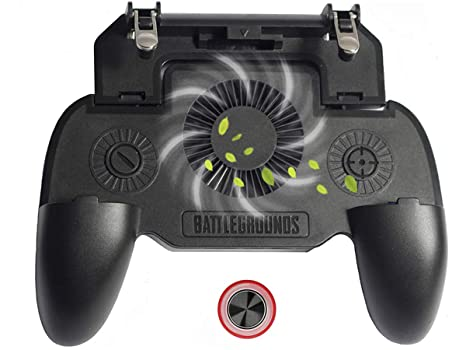 GameCorfara Mobile Game Controller for PUBG 4-in-1 Upgrade Version Cool  Phone Holder Gamepad Shoot and Aim Trigger Joystick Physical Buttons Phone