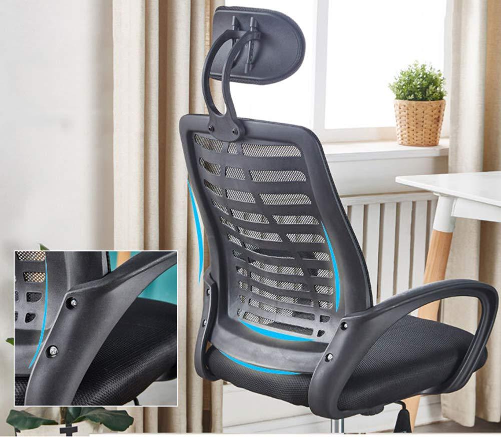 JESU Ergonomisk kontorsstol med nackstöd och ryggstöd, datorstol skrivbordsstol, svängbara hem komfortstolar, hög rygg med andningsbart nät, svart gRÖN