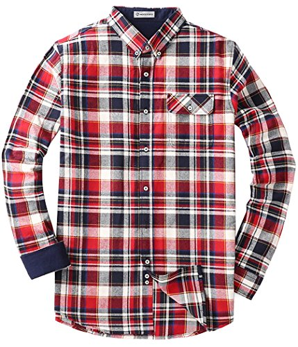 Men's Flannel Long Sleeve Plaid Button Down Western Shirts Muti Plaid - Cheap Style For Men