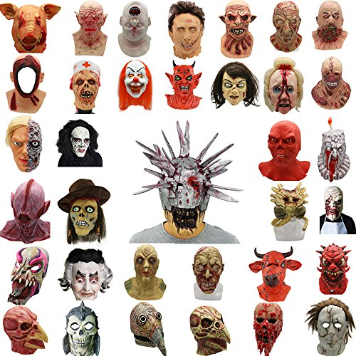 Lucky Lian Halloween Mask,Terror Mask,Zombie Mask,Costume Horror Party Latex Mask for Adult (The Exorcist)