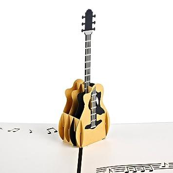 Personalizado Pop Up Tarjeta de felicitación Kit – Guitarra, tarjeta de felicitación de cumpleaños para