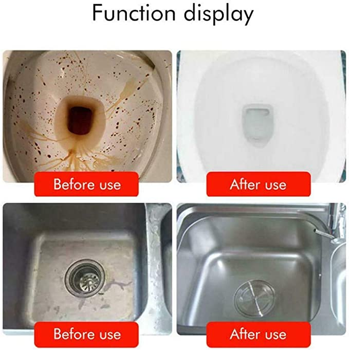 Magic Bubble Quick Foaming Toilet Cleaner Fast Drain Remover Hot Sink Dredge Bom
