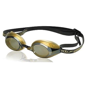 Speedo Speedsocket polarizadas de adultos gafas de natación – Negro/Oro