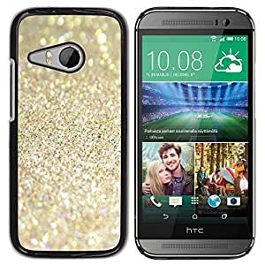 Paccase / SLIM PC / Aliminium Casa Carcasa Funda Case Cover para - Sparkling Glitter Gold Sand Summer - HTC ONE MINI 2 / M8 MINI
