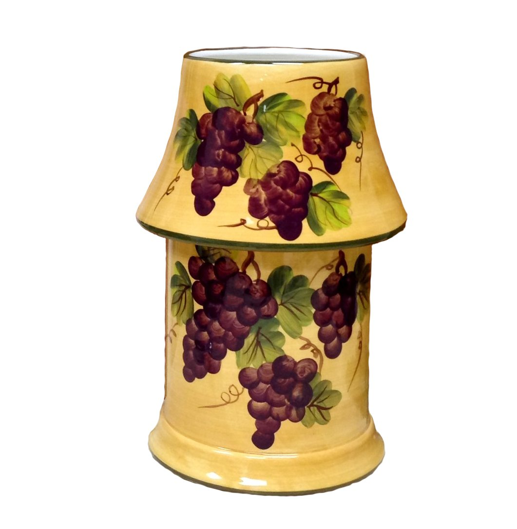 Tuscany Grape Wine Decor Electrical Jar melter with Lid Candle by ACK B001CE8KAA Electric Candle Jar Melter Electric Candle Jar Melter