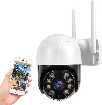 Opinión sobre PTZ Camara Vigilancia, Camara WiFi Exterior Impermeable IP66 con Audio de Dos Vías, Visión Nocturna en Color, Detección de Movimiento,AI Alarma, 320° Pan/110° Tilt