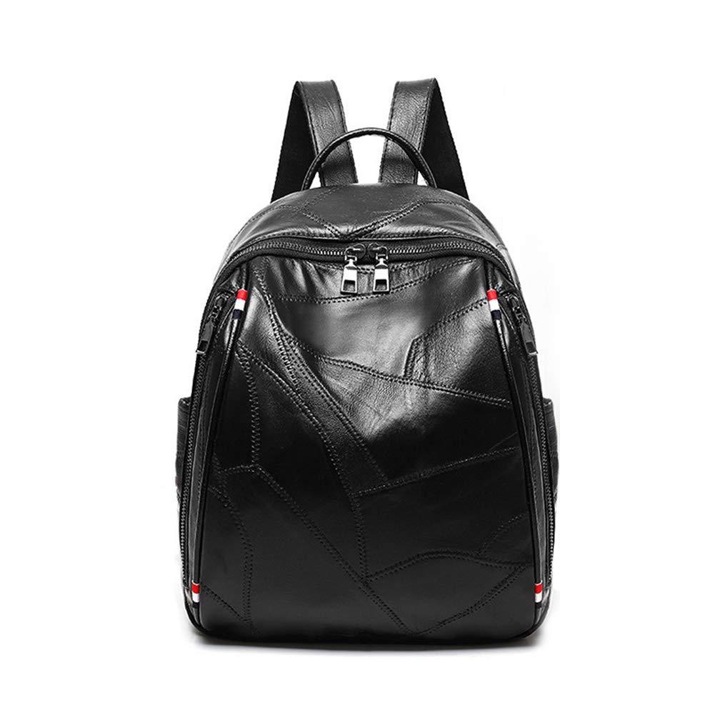 Yoome Women Splicing Leather Backpack Ladies Travel Daypack Waterproof School Bag