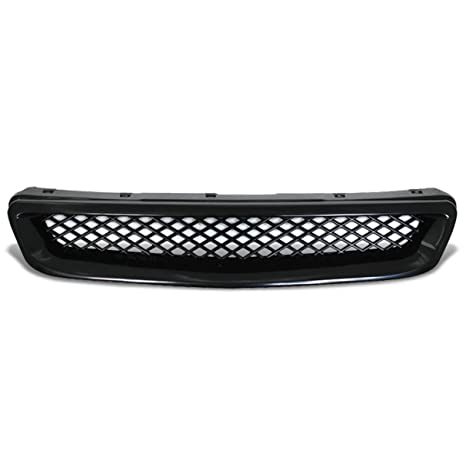 Honda Civic ABS Plastic Type R Mesh Style Front Grille (Black)   6th