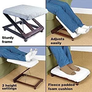 Amazon Com Adjustable Footstool Elevator Foot Stool