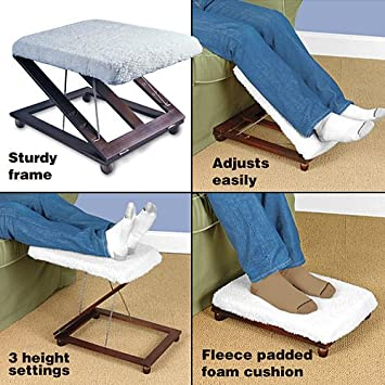 Adjustable Footstool Elevator Foot Stool & Amazon.com: Adjustable Footstool Elevator Foot Stool: Kitchen u0026 Dining islam-shia.org