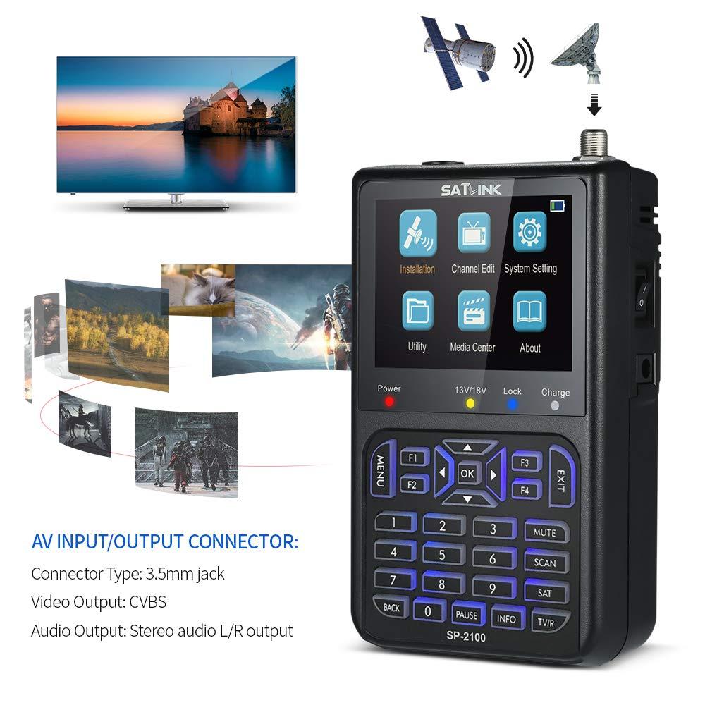 Satellite Finder, KKmoon SP-2100 Digital Satellite Finder Signal Finder Satellite Searching Meter Digital Satellite Signal Finder Meter with Carrying Pouch and Strap