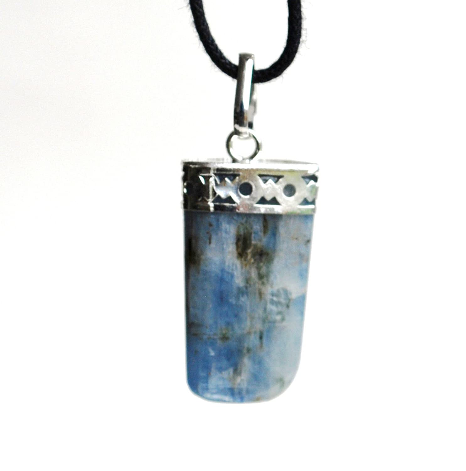 Reiki Energy Charged Raw Kyanite Crystal Pendant with Cord (Beautifully Gift Wrapped) l7iThRpVLA