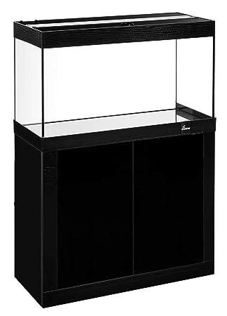Diversa Fin Line LED 80 * 35 Negro Acuario Completo de Mueble y luz de LED 17 W: Amazon.es: Productos para mascotas