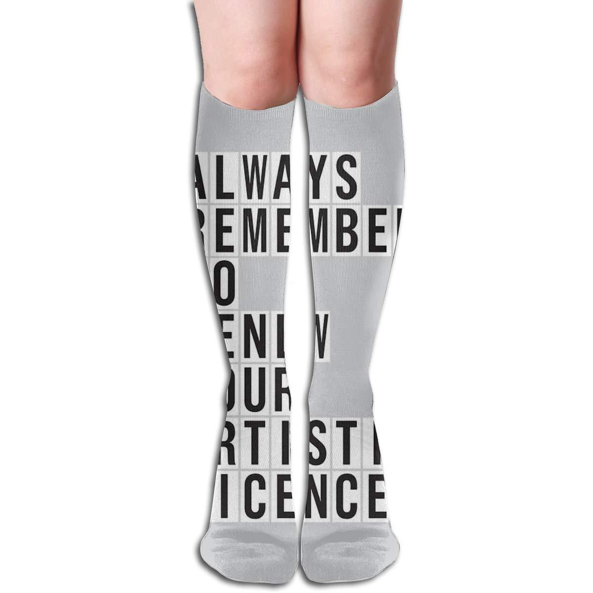 LICENCE RENEWAL Compression Socks Soccer Socks High Socks For Running,Medical,Athletic,Edema,Varicose Veins,Travel,Nursing.