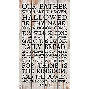 amazon com p graham dunn our father lord s prayer white wash 14 x