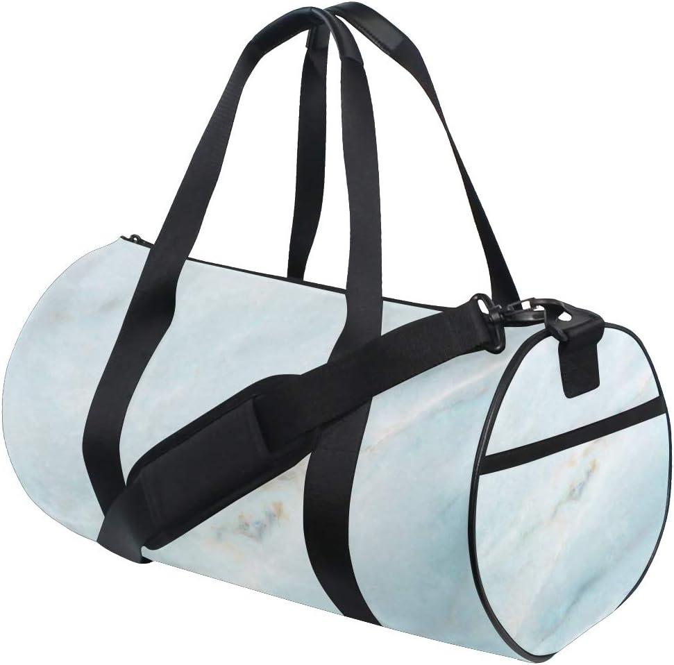 OuLian Gym Bag Blue and White Porcelain Marble Women Canvas Duffel Bag Cute Sports Bag for Girls