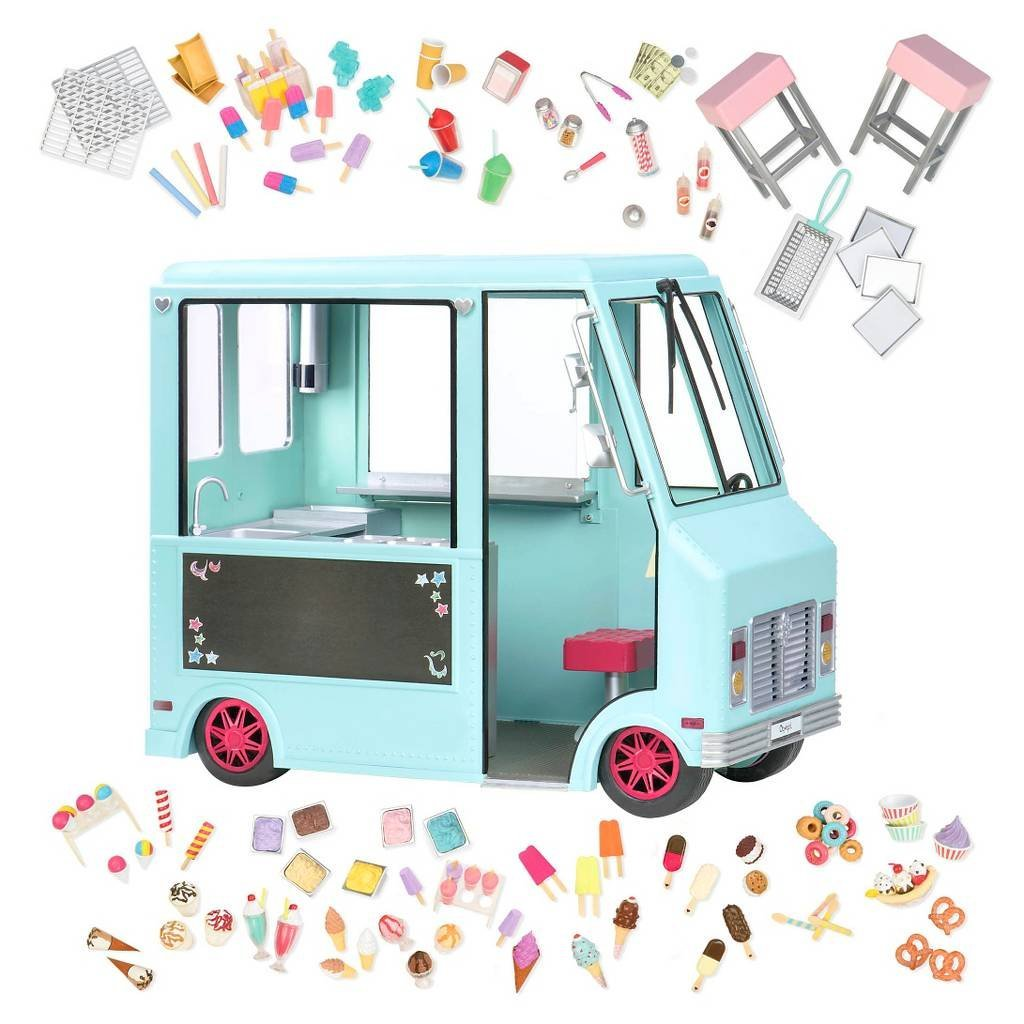 Our Generation Dolls Sweet Stop Ice Cream Truck for Dolls, 18''