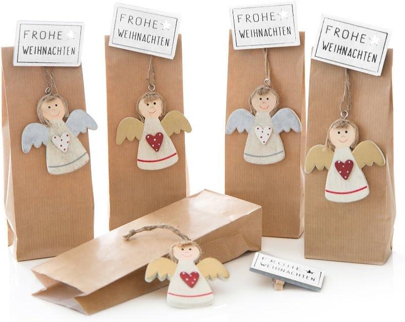 leere 25x Geschenkanhänger aus Holz Preisschilder Weihnachten bezaubert