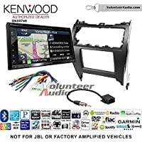 Volunteer Audio Kenwood DNX574S Double Din Radio Install Kit with GPS Navigation Apple CarPlay Android Auto Fits 2012-2013 Non Amplified Toyota Camry