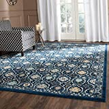 Cheap Safavieh Evoke Collection EVK210A Contemporary Royal Blue Ivory Area Rug (8′ x 10′)