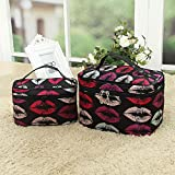 quicksilver trolley - AMAZZANG-Travel Organizer Accessory Toiletry Cosmetic Make Up Holder Case Bag Storage Box (Colorful Rounds)